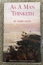 Vintage As a Man Thinketh by James Allen HC/DJ 1968 Hallmark Edition