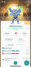 Pokemon Go  trading 40 Lv max Machamp second charge move PVP MASTER