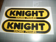 (1 set) KNIGHT RACING FRAMES () FLAT TRACK DECALS