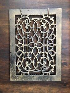 Antique Cast Iron Heat Grate Cover