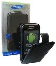 ORIGINALE Samsung Galaxy Ace S5830 Nero EXECUTIVE FLIP CASE COVER WALLET EF-SGAL