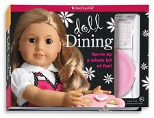 American Girl DOLL DINING kit hat apron order pad book easel bags craft