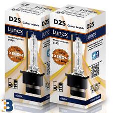 2 x D2S LUNEX 4300K XENON HID LAMPADINE P32d-2 Original 35W 4300K Colour Match