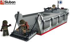 Sluban Kids Military Army Toy Blocks Bricks 70070 Landing Craft Soldier Gun Ship