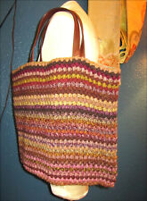Rare! Sophie Digard Large Crochet Woven Knit Autumnal Tote Bag