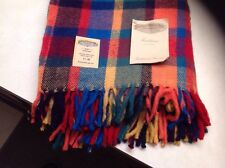 FARIBO Classic Red 1965 Plaid Throw Blanket Faribault Woolen Mills 50x60 Inches