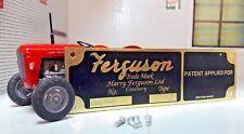Harry Tracteur Ferguson laiton outil CHÂSSIS verni Applied pour ASSIETTE &