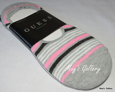 GUESS jeans STRIPED  No show  SOCK Solid SOCKS set of 2 Logo Hosiery Sock 6-10