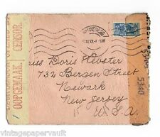WWII TWICE-CENSORED COVER SOUTH AFRICA TO US