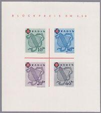 Baden Block Mi.Nr. 2 Type I/III  postfrisch