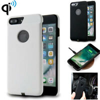 Qi for iPhone 6 7 Plus Wireless Charger Case Charging Power Receiver Cover + Pad