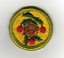 Fruit & Nut Growing Merit Badge, Type G, Cloth Back (1961-71), Mint!