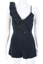 The Fifth Label Womens Navy Village Ruffle Romper Blue Size Extra Small 11183039