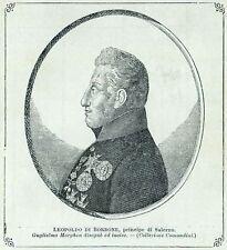 Leopoldo di Borbone, Principe di Salerno. Regno delle Due Sicilie, Napoli. 1901