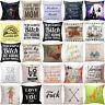18'' Vintage Throw Pillow Case Cotton Linen Cushion Cover Home Decor