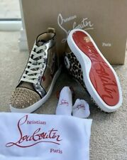 Christian Louboutin Mens Lou Spikes Flat Loubi Kraft Sneakers UK 10 EU 44 100%