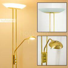 Led Decken Fluter Lese Stehlampe Messing Büro Leuchte Stand Esszimmer Dimmbar