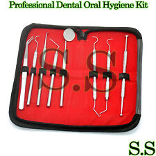 8 Pcs Professional Dental Oral Hygiene Travel Kit Tools Deep Cleaning Teeth Care