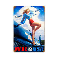 """""""Made in the USA"""" Metal Sign - Hand Made in the USA with American Steel"""