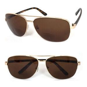 Retro Mens Pilot Bifocal Tinted Sun Reader Reading Sunglasses UV Protect RE70