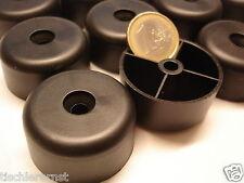 12 x Polsterfuß Möbelgleiter Füße Sesselerhöhung Kunststoff schwarz 40 x 20mm