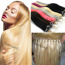 "Easy Loop Micro Ring Tipped Real Ombre Remy Human Hair Extensions 16"" 40g 100s"