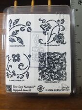 Stampin Up! New Two Step Stippled Stencils Set of 4 Stamps Nib Floral Unused