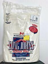 Morgan Mills Long Johns Pioneer Spirit Men XL Thermal Wear White Ankle Drawer