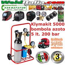 KLYMAKIT 5000 BOMBOLA  AZOTO 5 L. RIDUTTORE TUBO MANOMETRO 60 BAR RUB. OXYTURBO