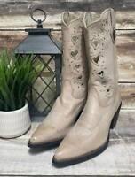"New Women's Durango Crush 11"" White Taupe Heartfelt Leather Western Boots 6.5 M"