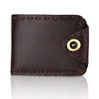 NEW Genuine Leather Men's Slim Style Bifold Wallet Brown Credit Card Holder