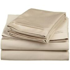 600 Thread Count 100% Egyptian Cotton Queen Size Sheet Set Triple Pleated Sateen