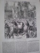 Turkey army enlisting volunteers Rumelia (Bulgaria) 1877 old print ref W