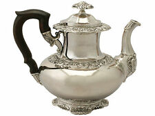 German Silver Coffee Pot - Antique Circa 1850