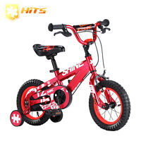 HITS Shine Children Bike Kid Safe Bicycle Child's Bike With Training Wheels 14''