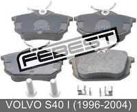 Pad Kit, Disc Brake, Rear - Kit For Volvo S40 I (1996-2004)