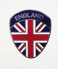ENGLAND painted metal badge Union Jack shield Vespa club