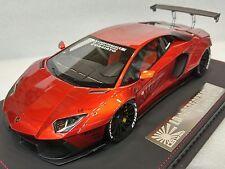 Lamborghini Aventador LB Performance Widebody Chrome Monza Red bbr APM 1:18