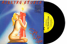 """THE ROLLING STONES - SHE WAS HOT - RARE 7"""" 45 VINYL RECORD PIC SLV 1983"""