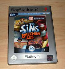 Playstation 2 Spiel - Die Sims Brechen aus - Platinum - PS2 Game