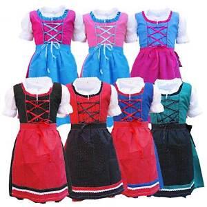 Kinder Dirndl Trachtenkleid 3 teilig Josi MS-Trachten Abverkauf