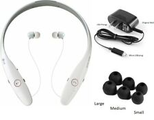 White Lg Tone Infinim Hbs-900 Music Bluetooth dual earbuds Neckband Headset Oem