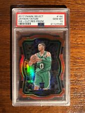 JAYSON TATUM 2017-18 Panini Select Die Cut Red Prizm 128/135 PSA 10 RC Gem 166