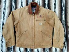 Carhartt Detroit Jacket Blanket Lined Work wear vtg USA made J01 BRN size 42