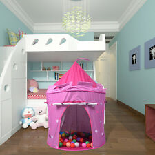 Portable Folding Pink  Play Kids Pop Up Tent Castle House Fun Girl Princess