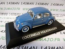 car 1/43 atlas NOREV car my father : VOLKSWAGEN coccinelle beetle blue