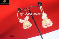 Indian Pakistani Bridal Jhumki Earring Set Pearl Bollywood Bridal Jewellery Box