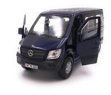 Mercedes Benz Sprinter Fenster Blau Modellauto mit Wunschkennzeichen 1:34