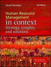 Human Resource Management in Context: Strategy, Insights and Solutions by Danie…