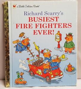 Richard Scarry's Busiest Fire Fighters Ever! Hardback c2003 Little Golden Book